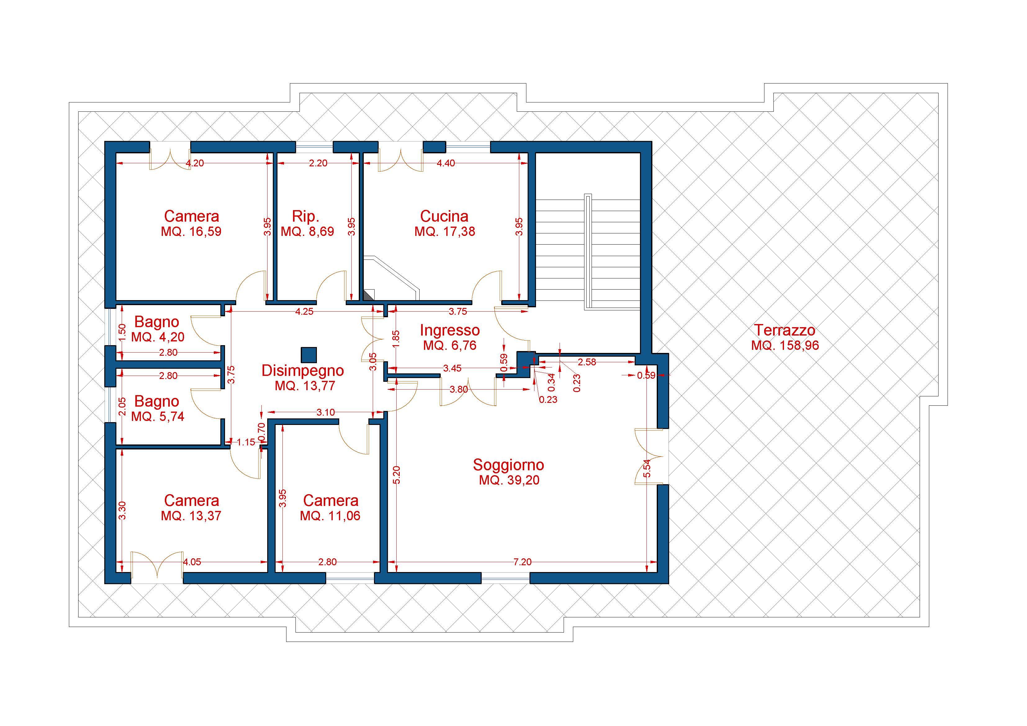 Planimetria Quotata Progetto Casa Costruiamo